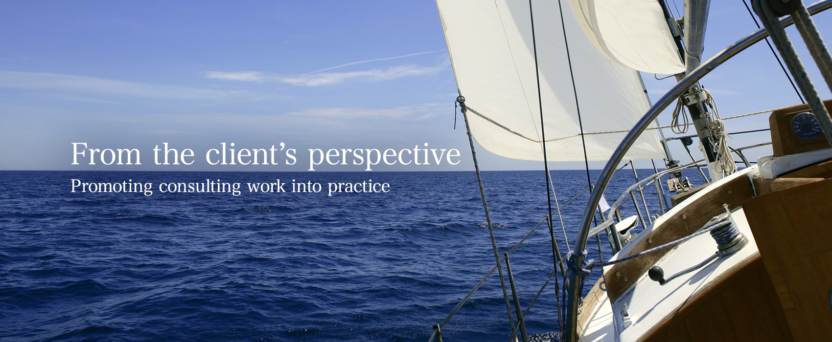 From the client's perspective — Promoting consulting work into practice