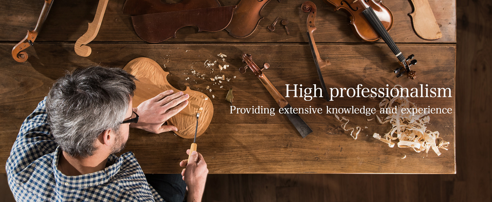 High professionalism — Providing extensive knowledge and experience